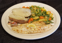 Walleye Fillet Dinner grilled
