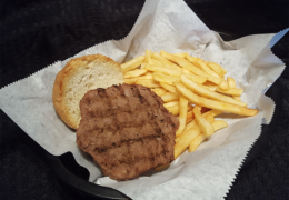 Kid's Burger & Fries basket